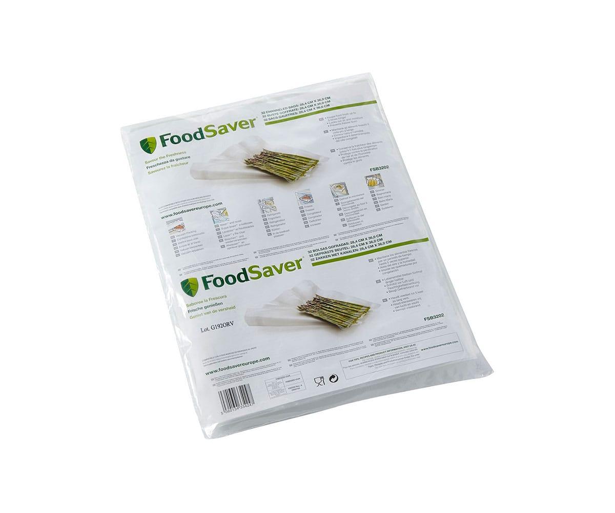 FOODSAVER FSB3202 32 BOLSAS COMPATIBLES CON CUALQUIER ENVASADORA FOODSAVER FABRICADOS EN 5 CAPAS SIN -