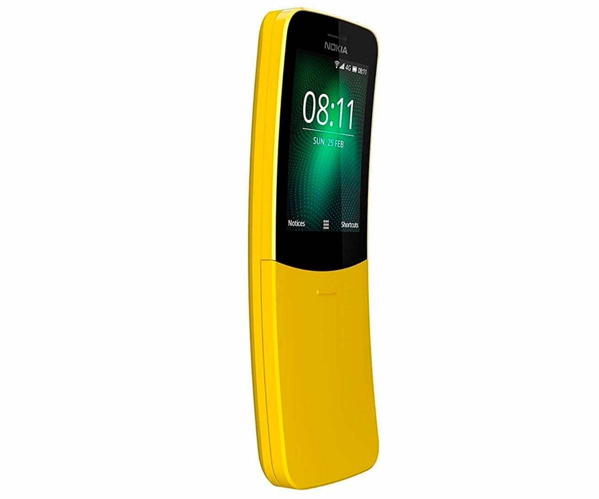 NOKIA 8110 AMARILLO MÓVIL 4G DUAL SIM 2.4 CURVA DUALCORE/4GB/512MB/2MP BLUETOOTH WIFI RADIO FM