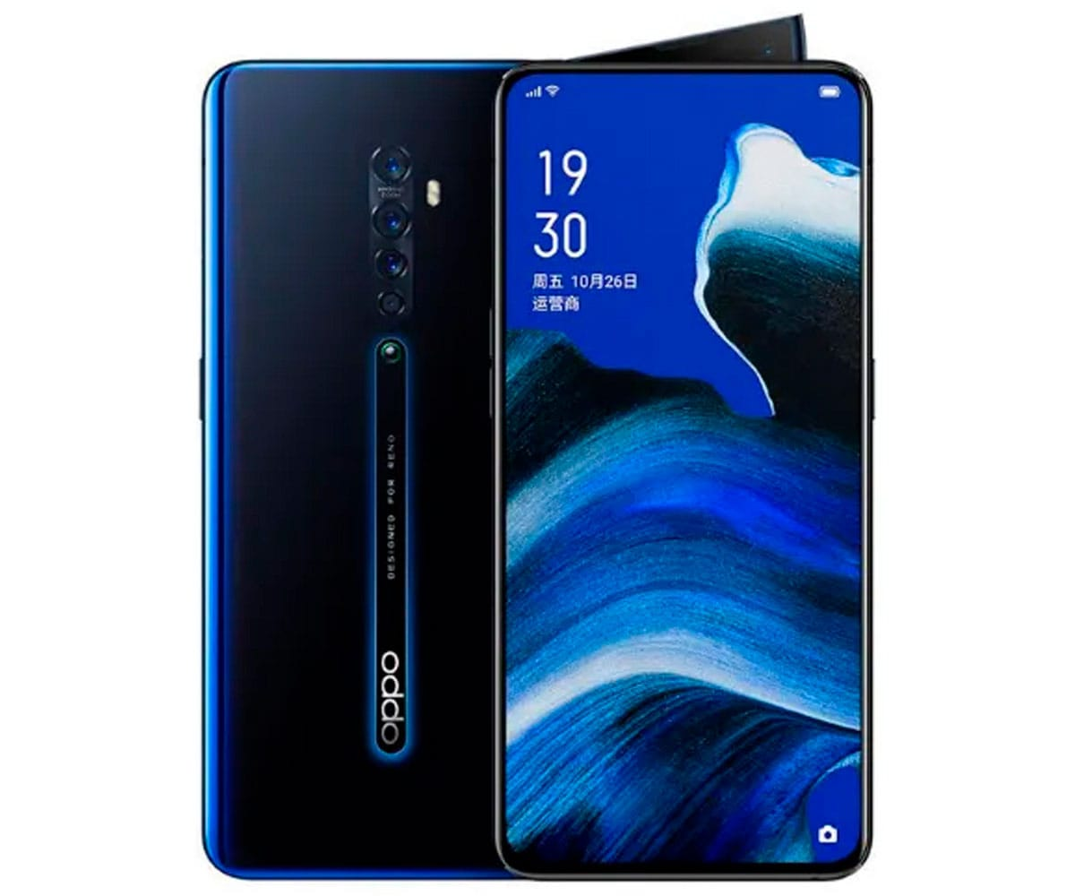 OPPO RENO 2 NEGRO LUMINOSO MÓVIL 4G DUAL SIM 6.4 AMOLED FHD+/8CORE/256GB/8GB RAM/48+5MP/16MP - RENO 2 LUMINOUS BLACK