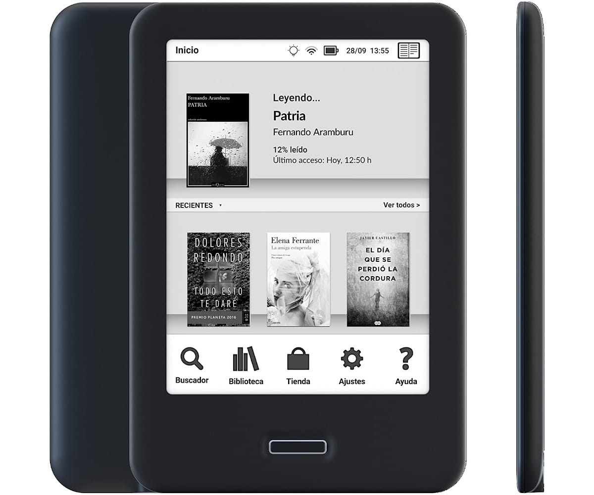BQ CERVANTES 4 NEGRO EBOOK READER 6'' E INK CARTA WIFI 8GB INTERNOS 1GB RAM