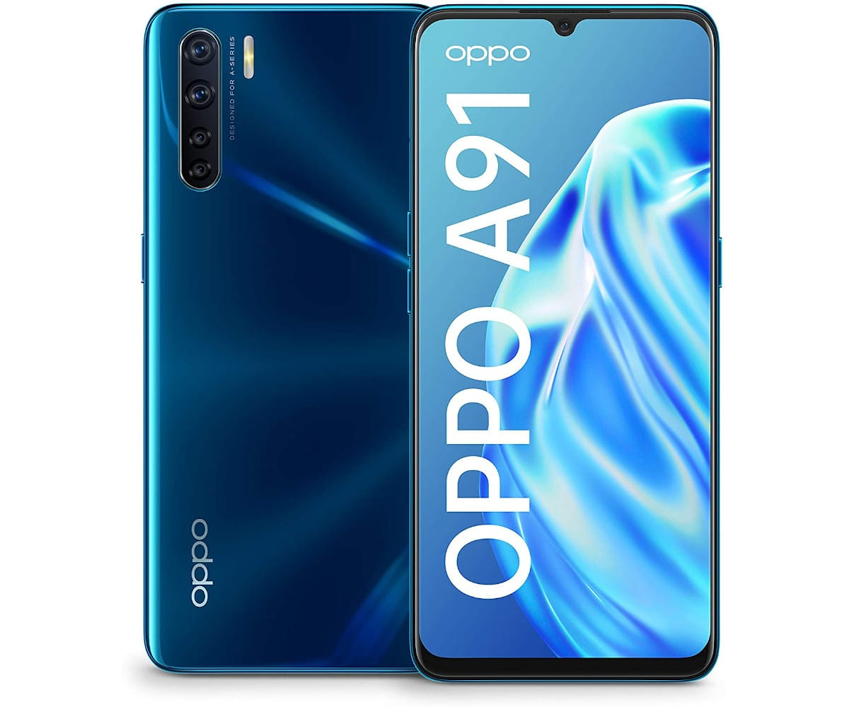 OPPO A91 AZUL MÓVIL 4G DUAL SIM 6.4'' AMOLED FHD+ OCTACORE 128GB 8GB RAM QUADCAM 48MP SELFIES 16MP