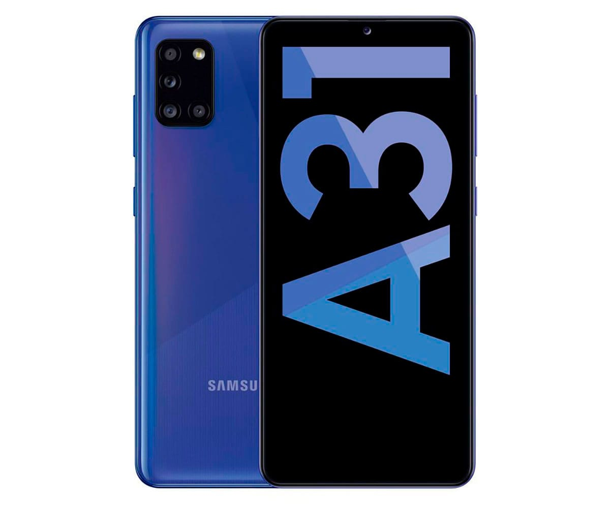 SAMSUNG A31 AZUL MÓVIL 4G DUAL SIM 6.4'' Super AMOLED FHD+ OCTACORE 64GB 4GB RAM QUADCAM 48MP SELFIES 20MP