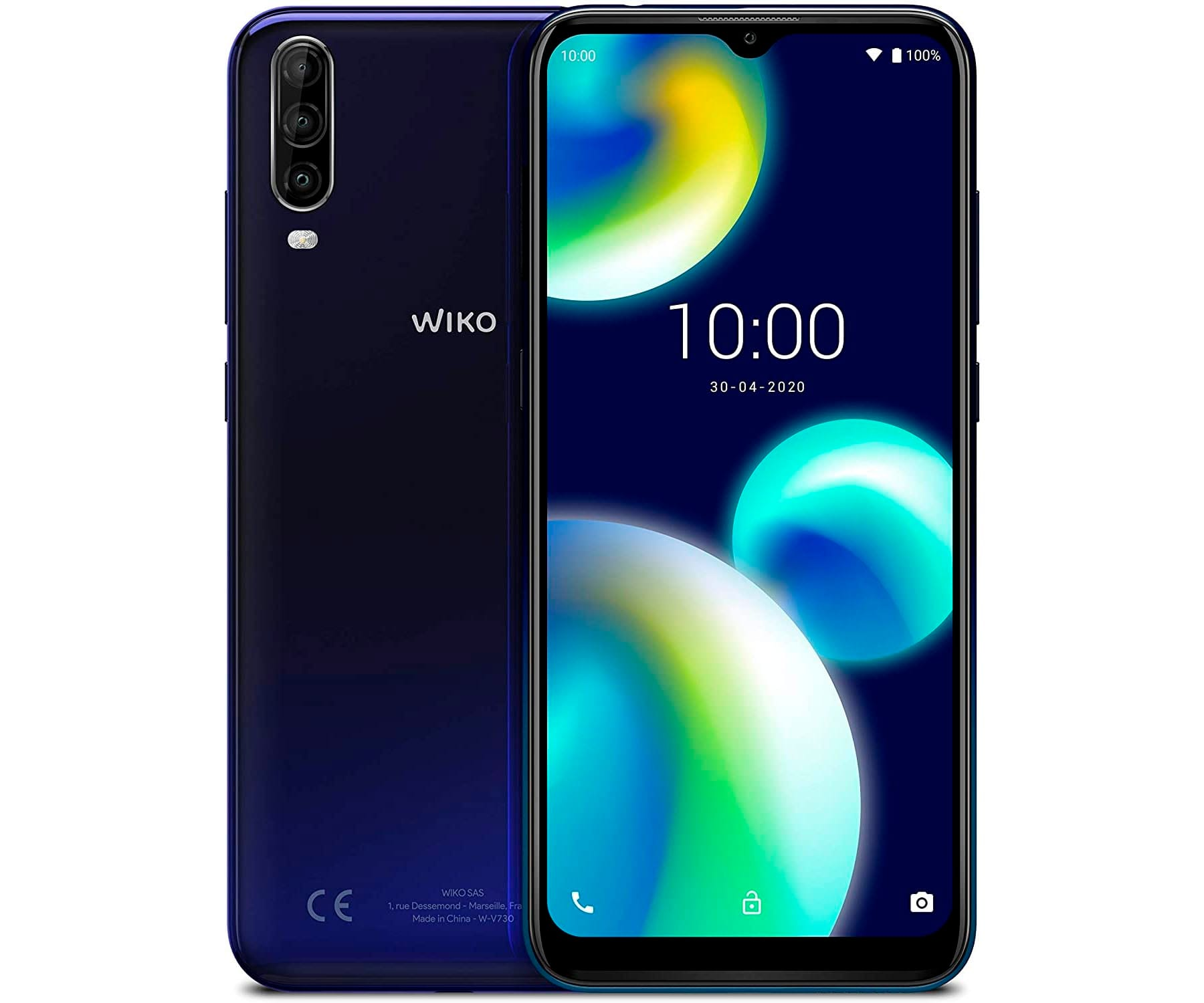 WIKO VIEW4 LITE AZUL MÓVIL 4G DUAL SIM 6.52'' HD+ OCTACORE 32GB 2GB RAM TRICAM 13MP SELFIES 5MP