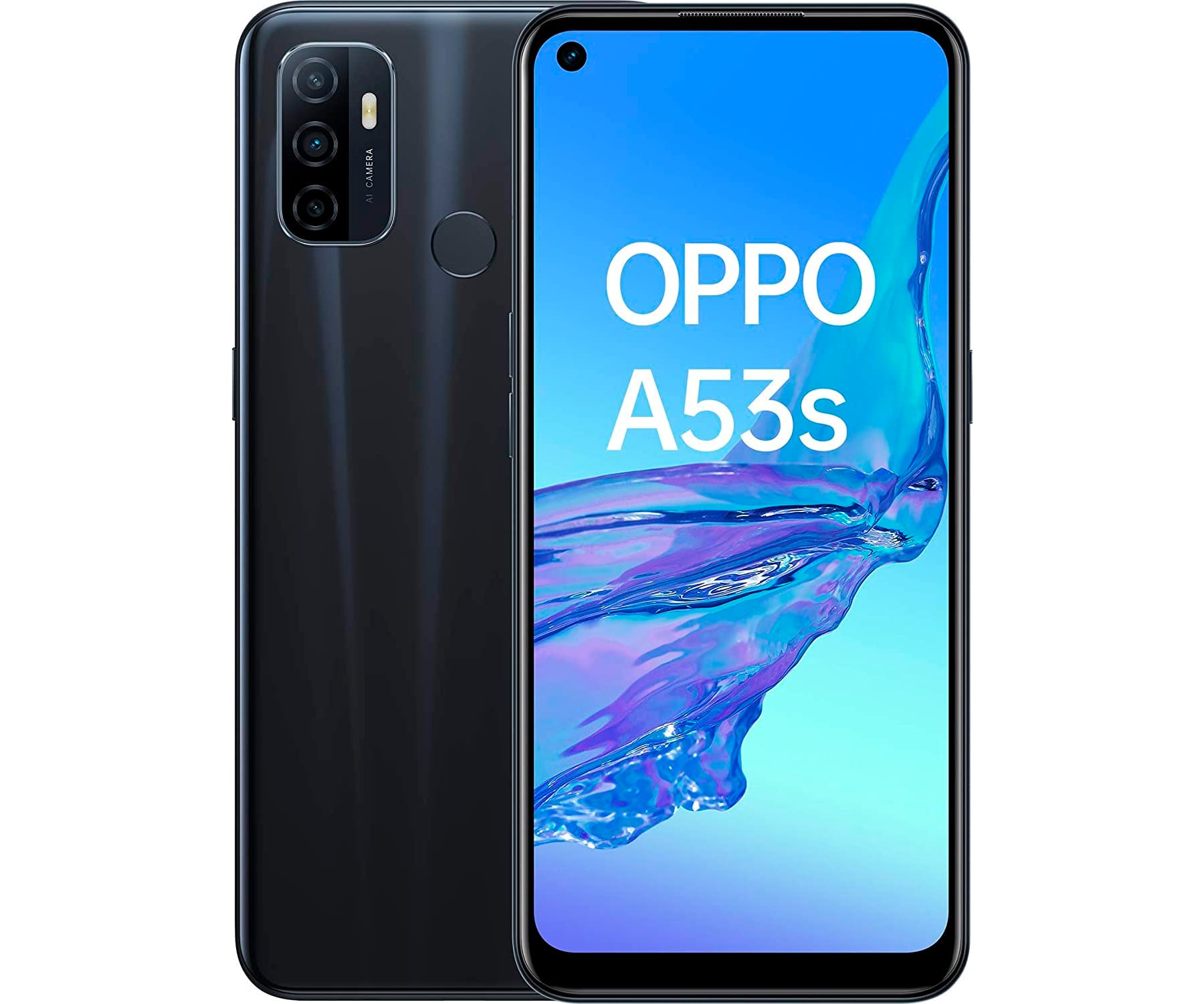 OPPO A53S NEGRO MÓVIL DUAL SIM 4G 6.5'' IPS 90Hz HD+ OCTACORE 128GB 4GB RAM TRICAM 13MP SELFIES 16MP