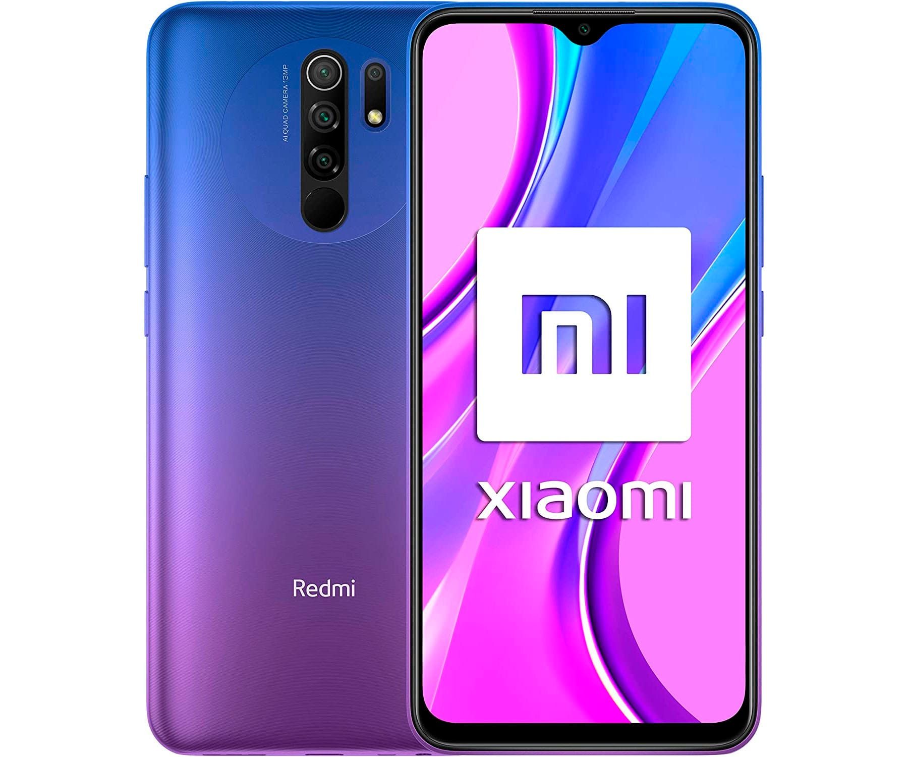 XIAOMI REDMI 9 MORADO MÓVIL 4G DUAL SIM 6.53'' FHD+ OCTACORE 64GB 4GB RAM QUADCAM 13MP SELFIES 8MP