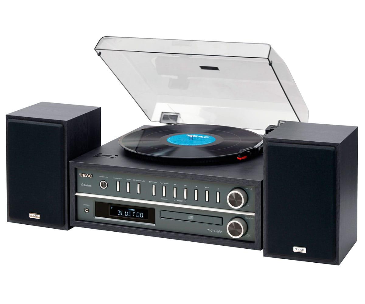 TEAC MC-D800 NEGRO TOCADISCOS CON NFC, BLUETOOTH, CD, USB 20W