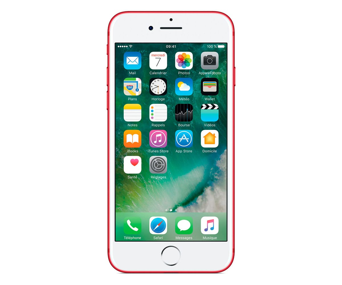 APPLE IPHONE 7 128GB ROJO MPRL2ZD/A MÓVIL 4G 4.7 IPS/4CORE/128GB/2GB RAM/12MP OIS/7MP - MPRL2ZD/A
