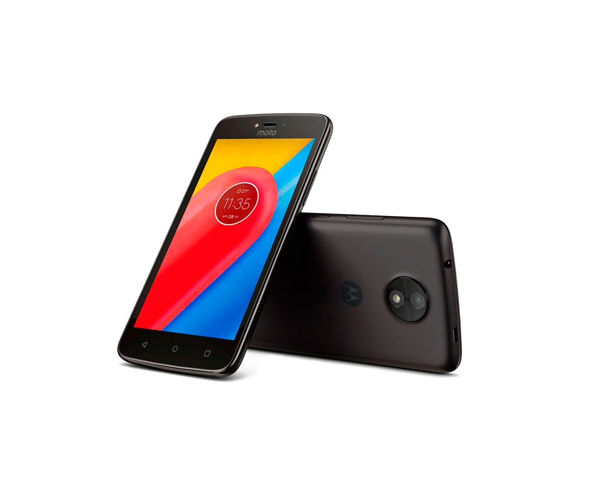 MOTOROLA MOTO C PLUS MÓVIL 4G DUAL SIM 5 HD/4CORE/16GB/1GB RAM/8MP/2MP - MOTO C PLUS 1+16GB BLACK IMP