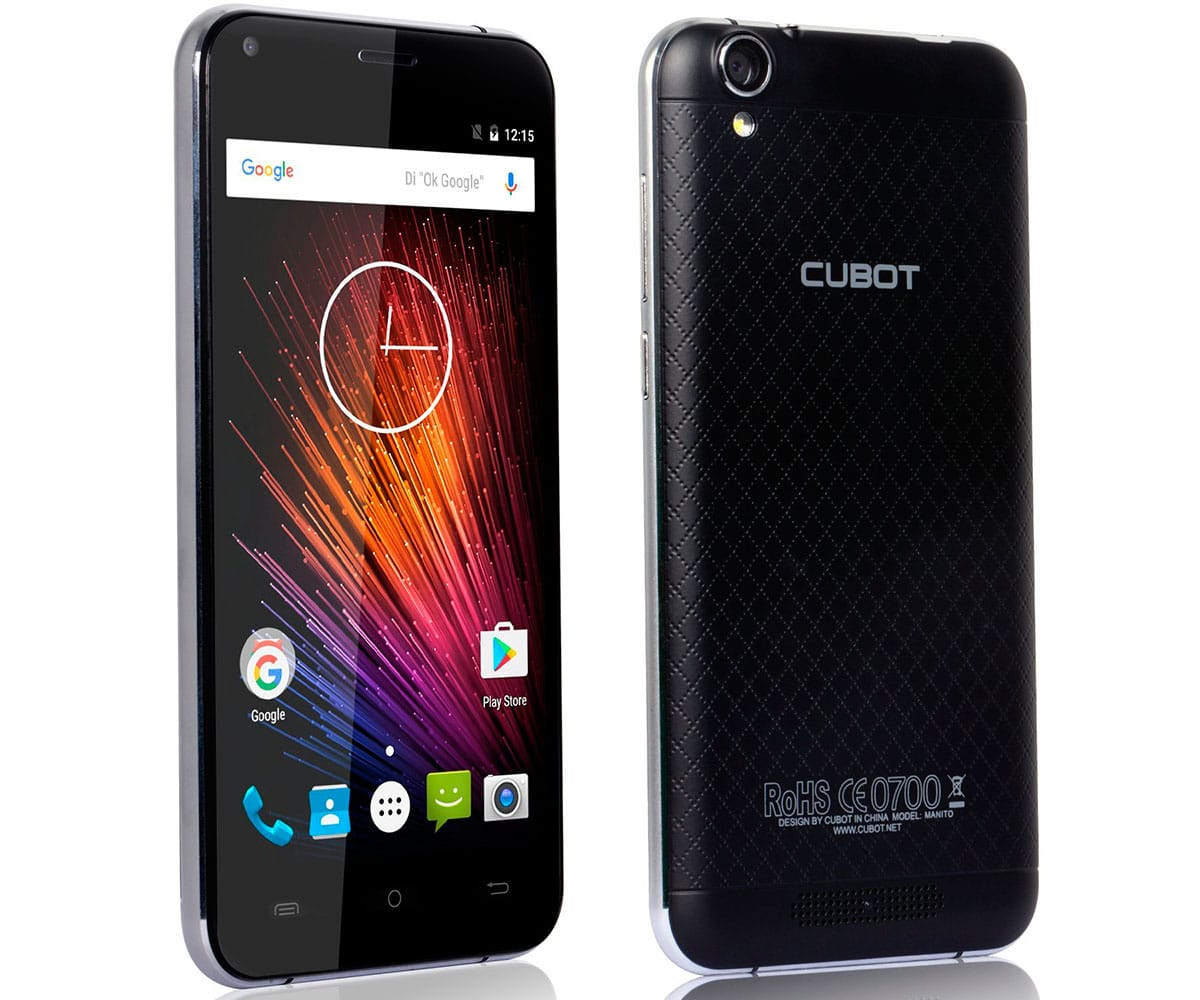 CUBOT MANITO NEGRO MÓVIL 4G DUAL SIM 5 IPS/4CORE/16GB/3GB RAM/13MP/5MP - MANITO 16GB DS BLACK IMP