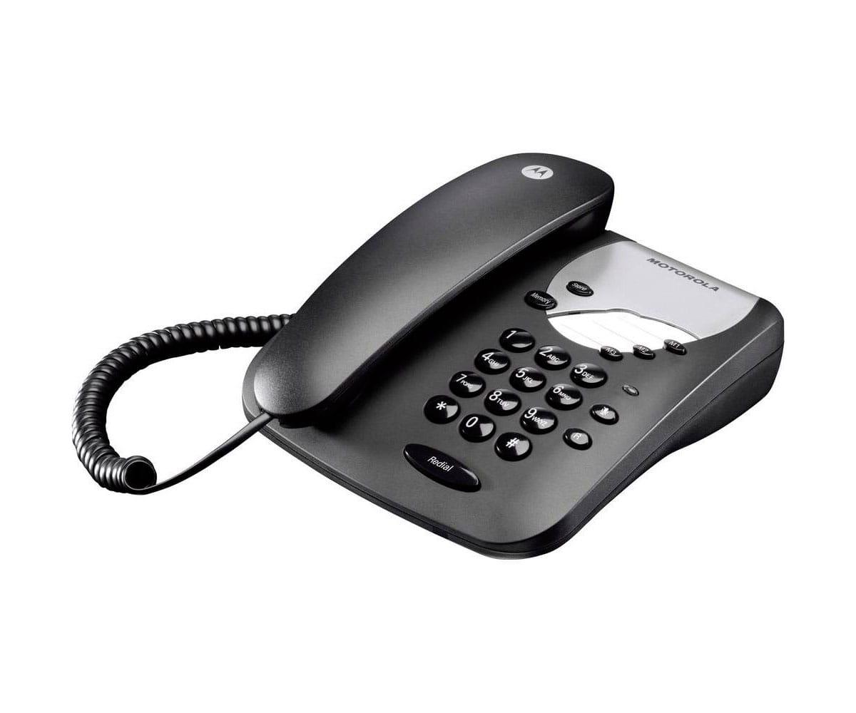 MOTOROLA CT1 NEGRO TELÉFONO FIJO CON MARCACIÓN DIRECTA
