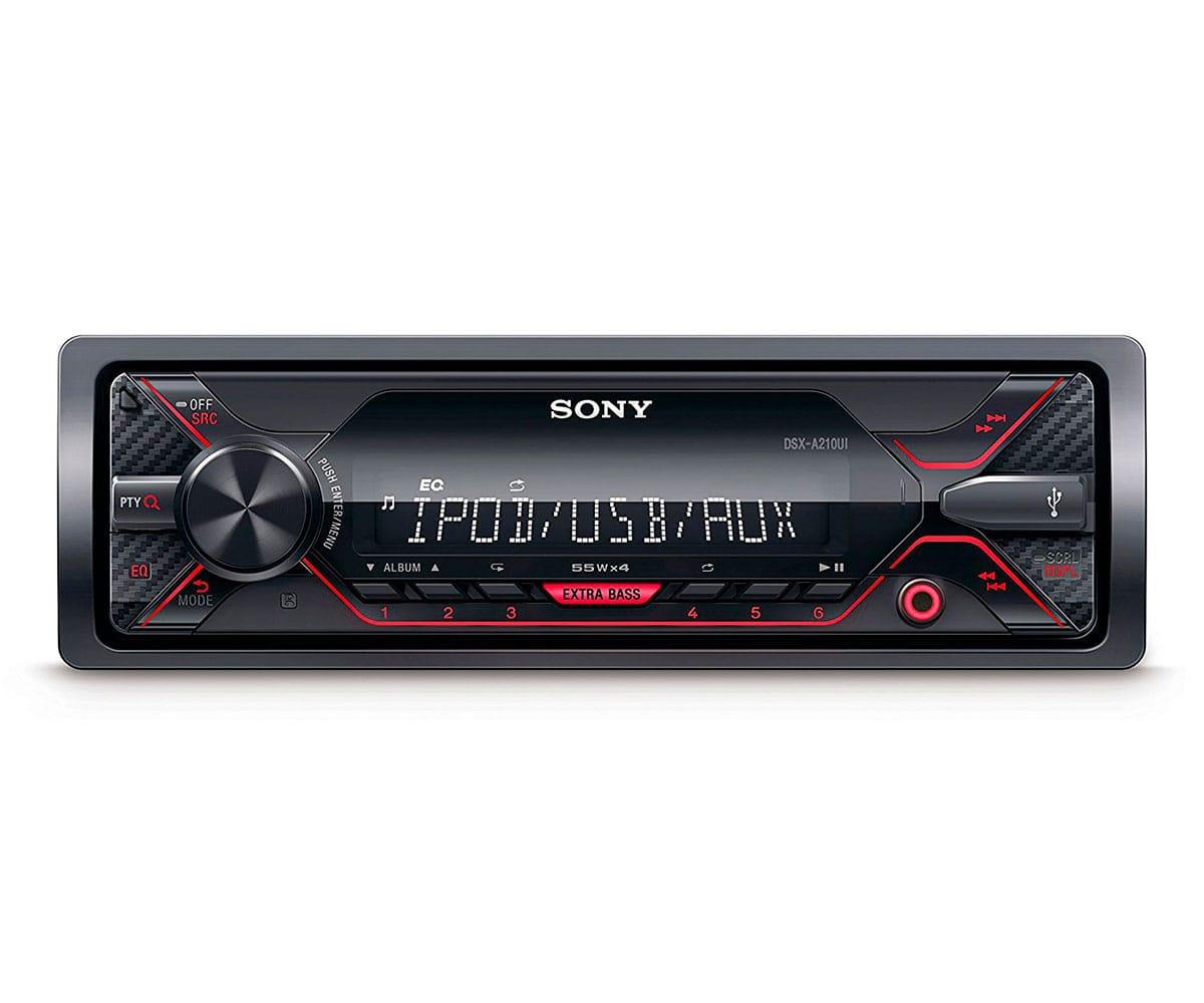 SONY DSXA210UI RECEPTOR MULTIMEDIA CON USB PARA COCHE ILUMINACIÓN ROJO - DSXA210UI