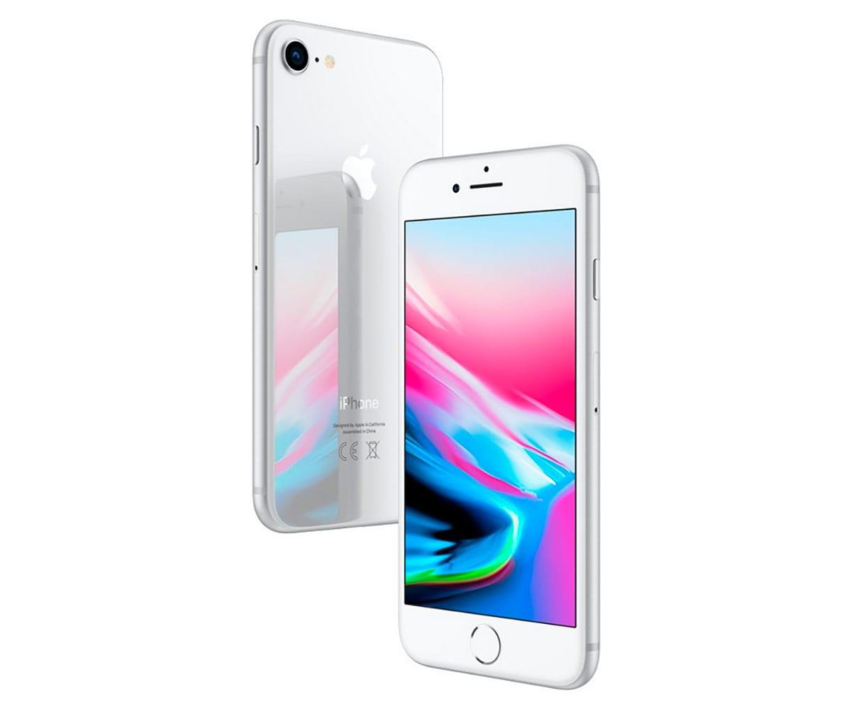 APPLE IPHONE 8 64GB PLATA MÓVIL 4G 4.7 RETINA HD/6CORE/64GB/2GB RAM/12MP/7MP - IPHONE 8 64GB PLATA