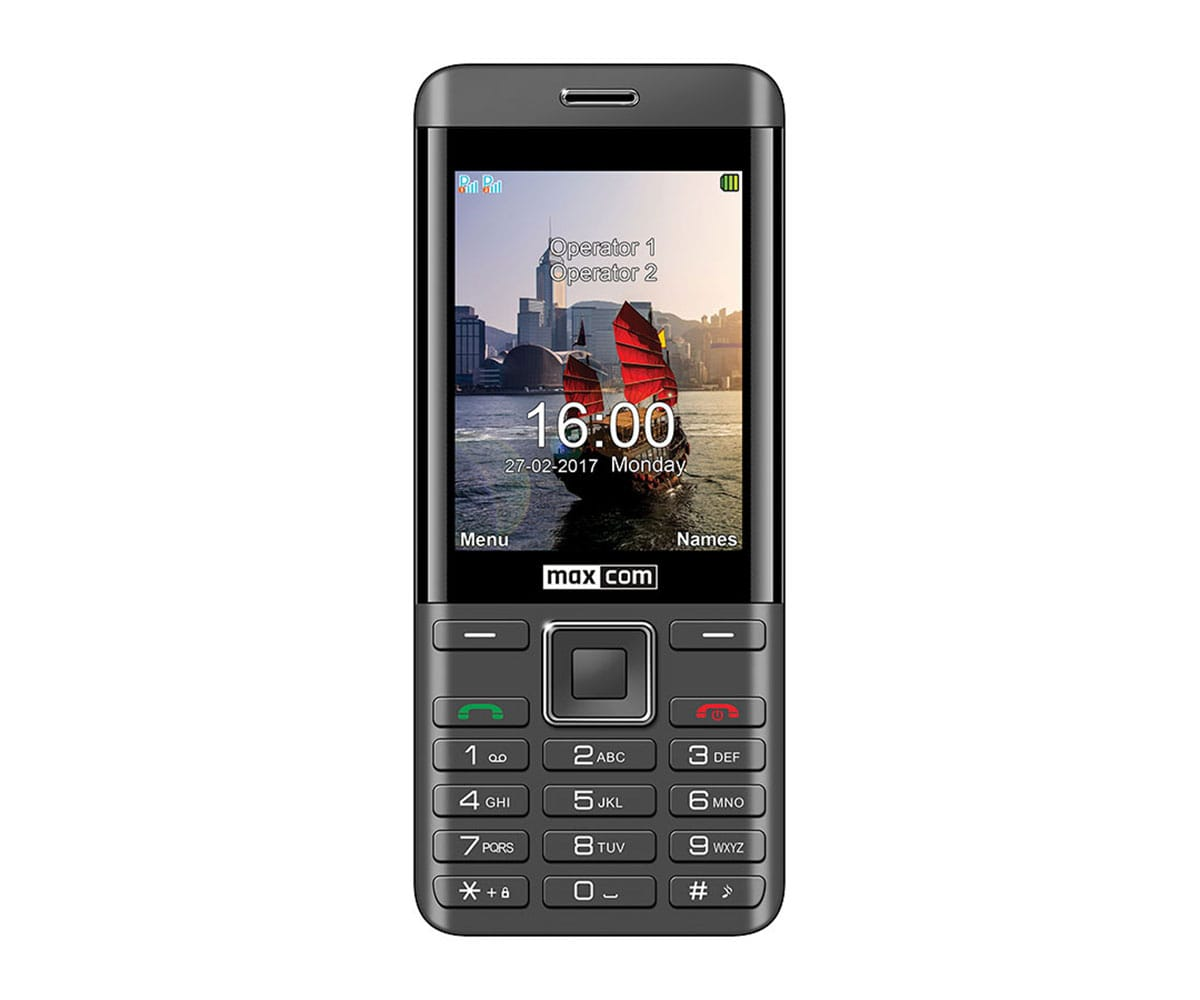 MAXCOM MM236 NEGRO PLATA MÓVIL DUAL SIM 2G SENIOR 2.8 CÁMARA DE 2MP BLUETOOTH MICROSD RADIO FM