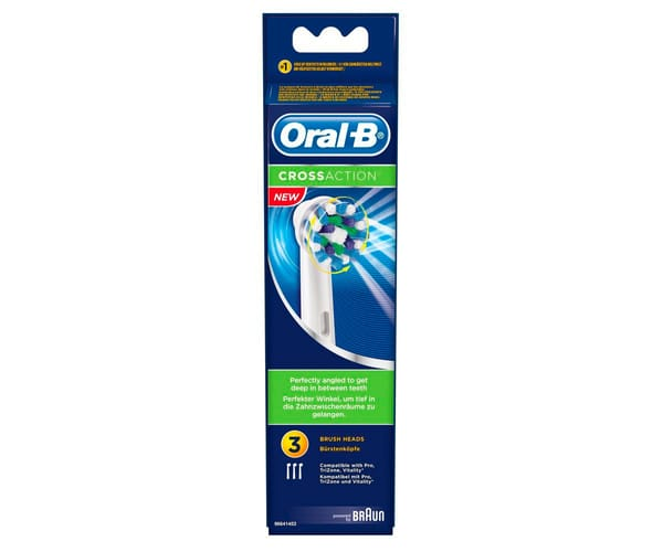 BRAUN EB 50-3 PACK 3 CEPILLOS ORAL-B PRO CROSSACTION