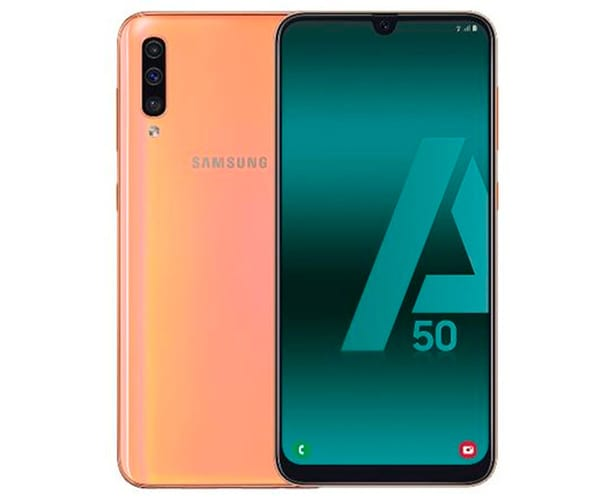 SAMSUNG GALAXY A50 NARANJA MÓVIL 4G DUAL SIM 6.4'' SUPER AMOLED FHD+/8CORE/128GB/4GB RAM/25MP+5MP+8MP/25MP