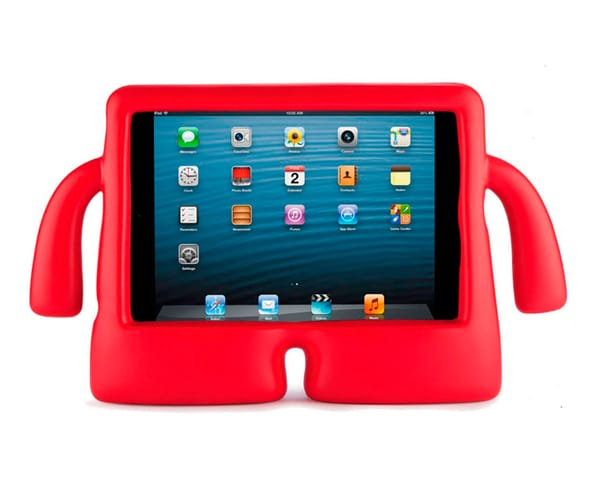 JC TAB7 FUNDA ANTIGOLPES CON FORMA DIVERTIDA MUÑECO ROJO TABLETS DE 7'' IDEAL PARA NIÑOS