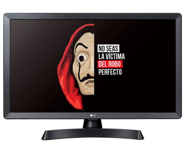 LG 24TL510S-PZ TELEVISOR MONITOR 24'' LCD LED HD SMART TV HDMI USB LAN WIFI COMPUESTO COMPONENTES AURICULARES