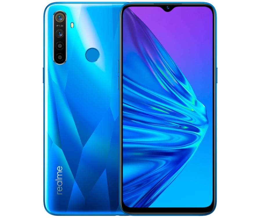 REALME 5 AZUL CRISTAL 4G DUAL SIM 6.5'' HD+ OCTACORE 128GB 4GB RAM QUADCAM 12MP SELFIES 13MP