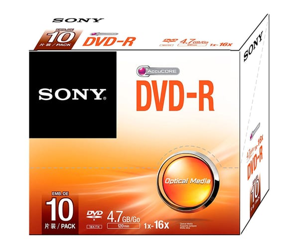 SONY DVD-R (4,7 GB)