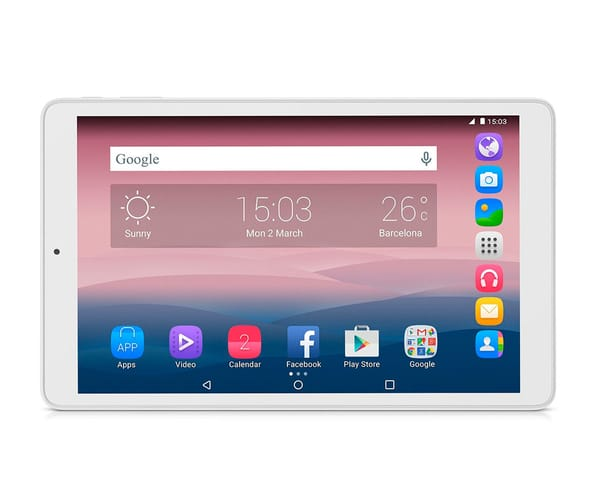 ALCATEL PIXI 3 (10) BLANCA TABLET 10.1''/4CORE/8GB/1GB RAM/5MP/2MP