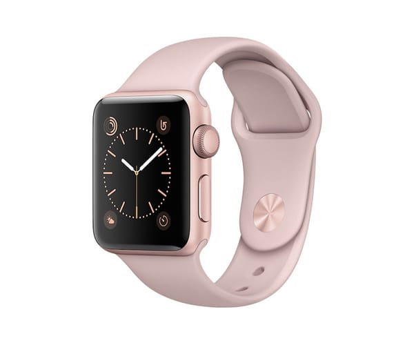 APPLE WATCH SERIES 2 38mm ROSA DORADO MNNY2QL/A SMARTWATCH CON GPS RESISTENTE AL AGUA