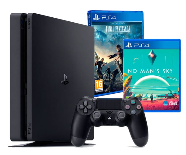 SONY PLAYSTATION 4 SLIM 1 TB CON MANDO + FINAL FANTASY XV + NO MAN'S SKY