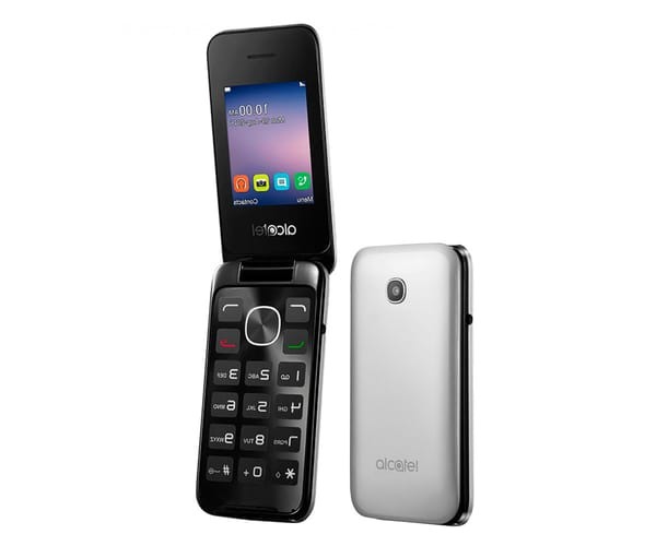 ALCATEL 2051D PLATA MÓVIL DUAL SIM/ 2.4''/ 2MP/ RADIO FM