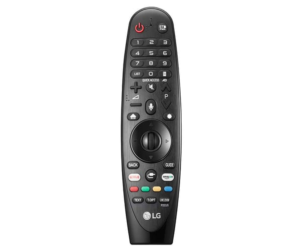 LG AN-MR18BA MANDO A DISTANCIA MAGIC REMOTE NEGRO SMART TV RECONOCIMIENTO DE VOZ BOTÓN NETFLIX Y AMAZON