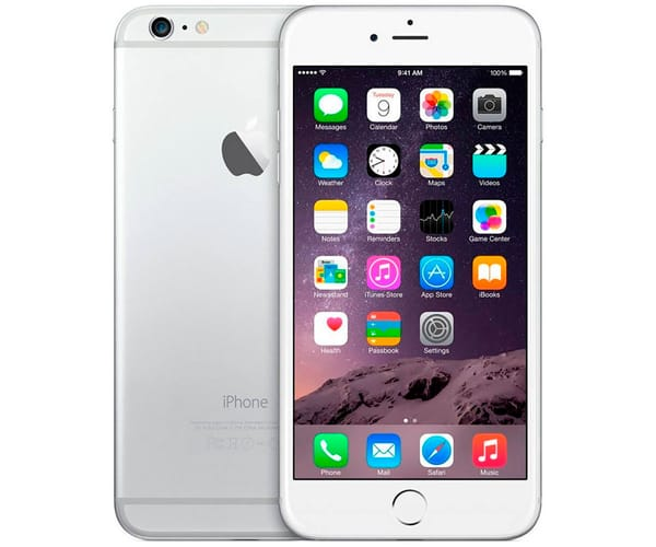 APPLE IPHONE 6 PLUS 16GB PLATA REACONDICIONADO CPO MÓVIL 4G 5.5'' RETINA FHD/2CORE/16GB/1GB RAM/8MP/1.2MP