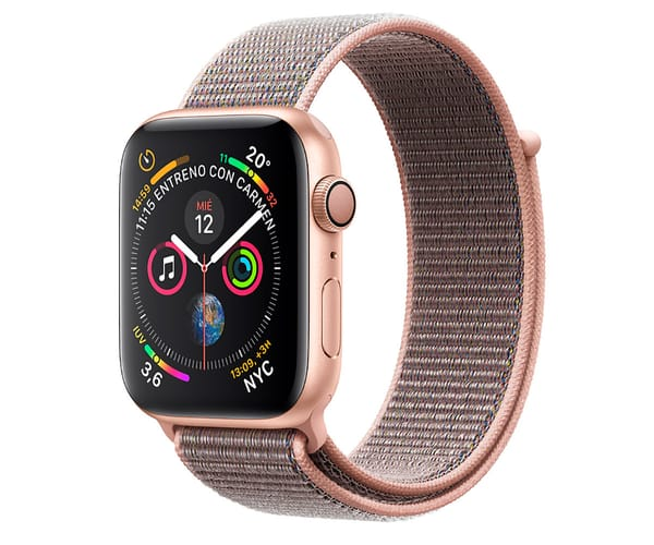 APPLE WATCH SERIES 4 ORO CON CORREA LOOP ROSA RELOJ 44MM SMARTWATCH 16GB WIFI BLUETOOTH GPS PANTALLA OLED