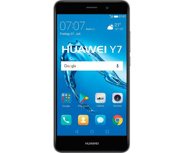 HUAWEI Y7 TORONTO (2017) NEGRO MÓVIL 4G DUAL SIM 5.5'' IPS LED/8CORE/16GB/2GB RAM/12MP/8MP