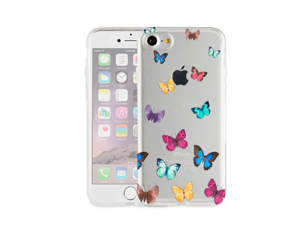 AKASHI MARIPOSAS CARCASA TRANSPARENTE IPHONE 7