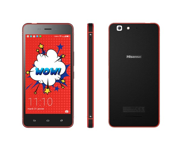 HISENSE C30 ROCK LITE ROJO MÓVIL 4G DUAL SIM 5'' IPS FHD/4CORE/16GB/2GB RAM/8MP/5MP