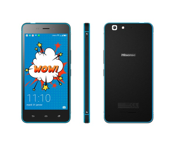 HISENSE C30 ROCK LITE AZUL MÓVIL 4G DUAL SIM 5'' IPS FHD/4CORE/16GB/2GB RAM/8MP/5MP