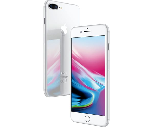 APPLE IPHONE 8 PLUS 64GB PLATA MÓVIL 4G 5.5'' RETINA FHD/6CORE/64GB/3GB RAM/12MP+12MP/7MP