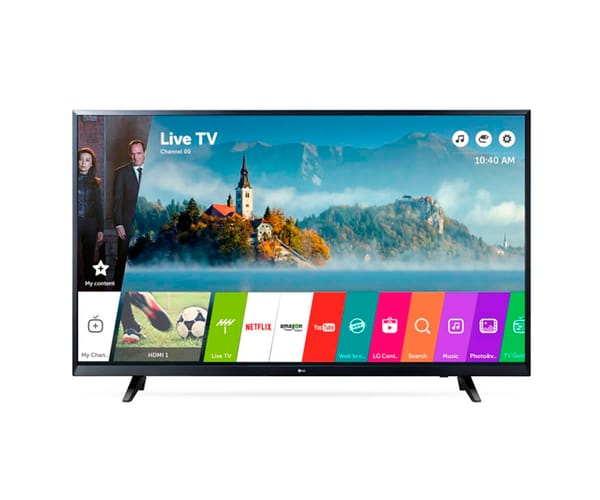 LG 43UJ620V TELEVISOR 43'' IPS LCD DIRECT LED UHD 4K HDR SMART TV WEBOS 3.5 WIFI BLUETOOTH HDMI USB GRABADOR Y REPRODUCTOR MULTIMEDIA