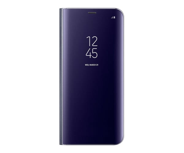 SAMSUNG CLEAR VIEW STANDING COVER VIOLETA FUNDA CON TAPA VISUALIZACIÓN DE NOTIFICACIONES SAMSUNG GALAXY S8 PLUS