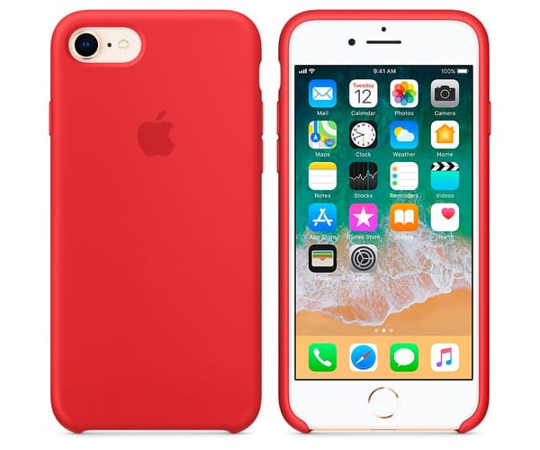 APPLE MQGP2ZM/A ROJO CARCASA DE SILICONA IPHONE 8/7
