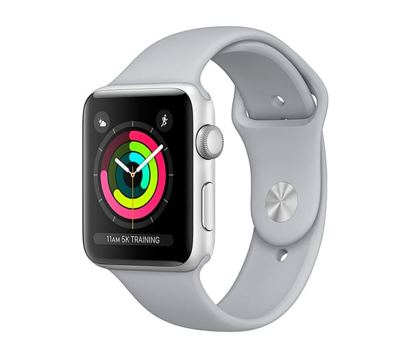 APPLE WATCH SERIES 3 PLATA 42mm SMARTWATCH CON GPS WIFI BLUETOOTH ASISTENTE VIRTUAL SIRI Y RESISTENTE AL AGUA
