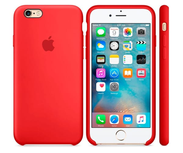 APPLE MKXM2ZM/A ROJO CARCASA DE SILICONA IPHONE 6S PLUS/ 6 PLUS