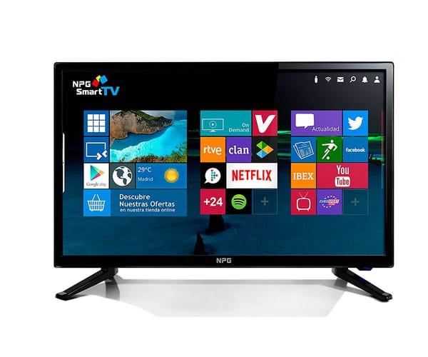 NPG TVS411L22F TELEVISOR 22'' LCD LED FULL HD SMART TV ANDROID WIFI HDMI USB GRABADOR Y REPRODUCTOR MULTIMEDIA