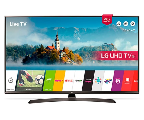 LG 43UJ635V TELEVISOR 43'' IPS LED UHD 4K HDR SMART TV WEBOS 3.5 WIFI BLUETOOTH LAN HDMI USB GRABADOR Y REPRODUCTOR MULTIMEDIA