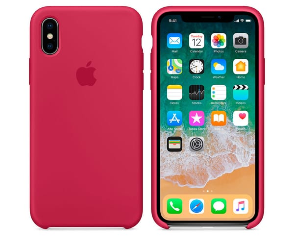 APPLE MQT82ZM/A ROJO ROSA CARCASA DE SILICONA IPHONE X