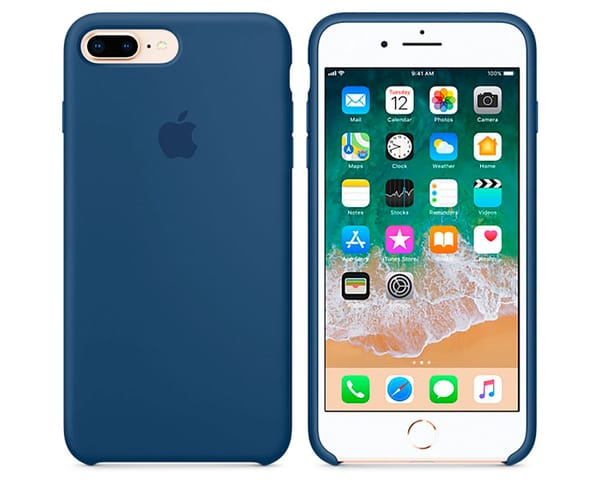 APPLE MQH02ZM/A AZUL COBALTO CARCASA DE SILICONA IPHONE 8 PLUS/7 PLUS