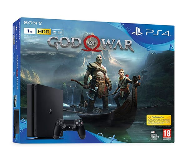 SONY PLAYSTATION 4 SLIM 1 TB + GOD OF WAR + MANDO DUALSHOCK4