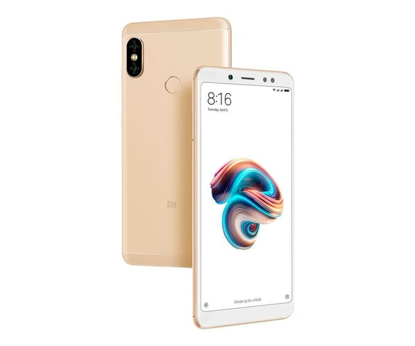 XIAOMI REDMI NOTE 5 DORADO 4G DUAL SIM 5.99'' IPS FHD+/8CORE/32GB/3GB RAM/12MP+5MP/13MP