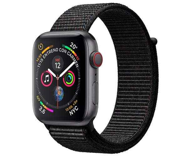 APPLE WATCH SERIES 4 CELL GRIS ESPACIAL CON CORREA LOOP NEGRA RELOJ 44MM SMARTWATCH 16GB WIFI BLUETOOTH GPS PANTALLA OLED