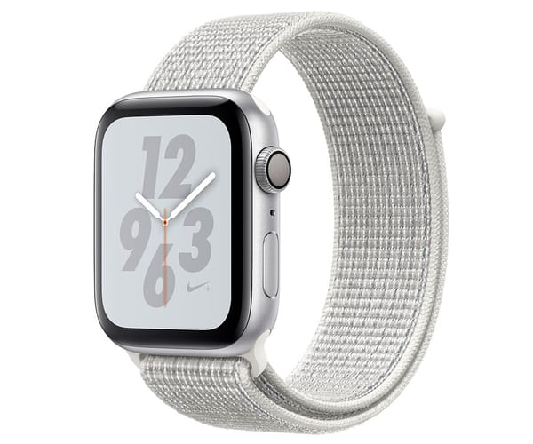 APPLE WATCH SERIES 4 NIKE+ PLATA CON CORREA SPORT BLANCO POLAR RELOJ 44MM SMARTWATCH 16GB WIFI BLUETOOTH GPS PANTALLA OLED