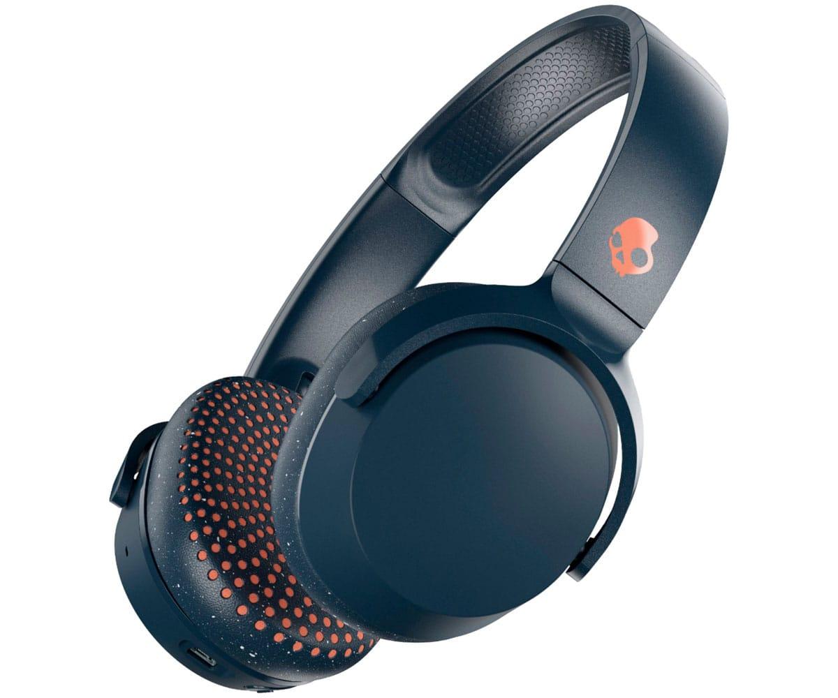 2e1299a0d98 SKULLCANDY RIFF BLUE SPECKLE MIAMI AURICULARES ON-EAR CON CABLE PLEGABLES  CON MICRÓFONO ...