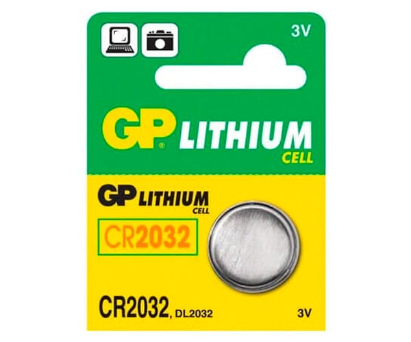 GP PILA LITIO CR2032 3V BLISTER DE 1 UNIDAD
